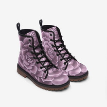 Load image into Gallery viewer, Lavender Succulent Combat Boots