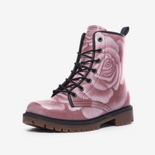 Load image into Gallery viewer, Pink Rose Combat Boots