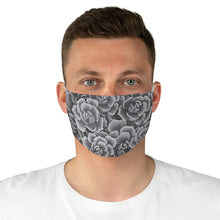 Load image into Gallery viewer, Grey Succulents Face Mask
