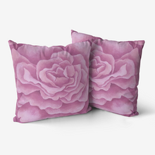 Load image into Gallery viewer, Pink Rose Throw Pillow