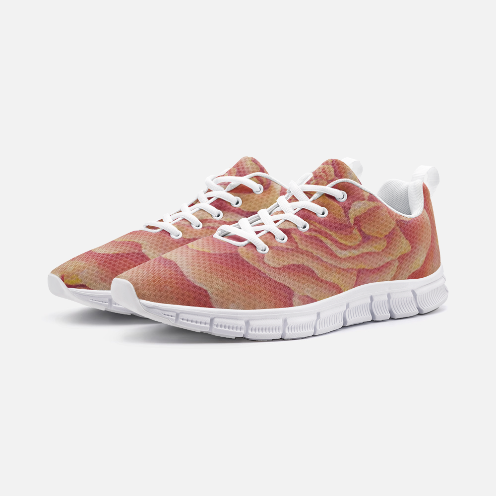 Tangerine Rose Unisex Athletic Sneakers