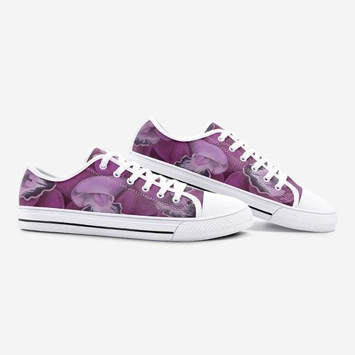 Fuchsia Orchid Low Top Canvas Shoes