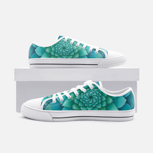 Load image into Gallery viewer, Turquoise Succulent Low Top Canvas Shoes