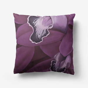 Plum Orchid Throw Pillow