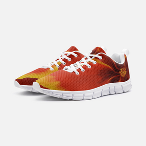 Red Hibiscus Athletic Sneakers