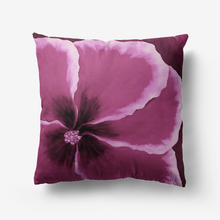 Load image into Gallery viewer, Magenta Hibiscus Throw Pillow