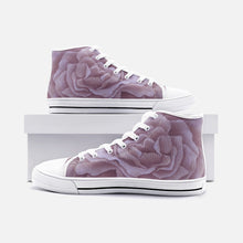 Load image into Gallery viewer, Plum Rose High Top Canvas Shoes
