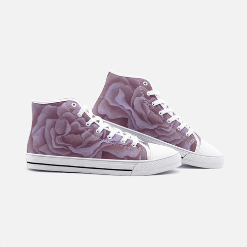 Plum Rose High Top Canvas Shoes