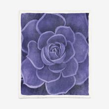 Load image into Gallery viewer, Purple Sherpa Blanket