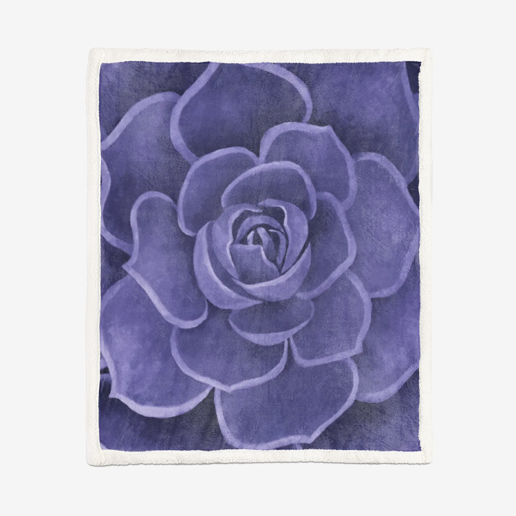 Purple Sherpa Blanket