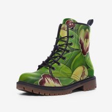 Load image into Gallery viewer, Lime Orchid Combat Boots