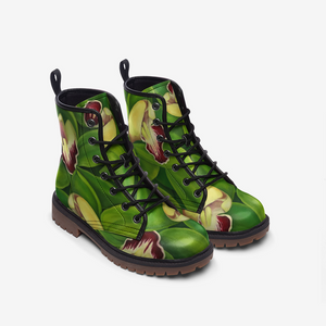 Lime Orchid Combat Boots