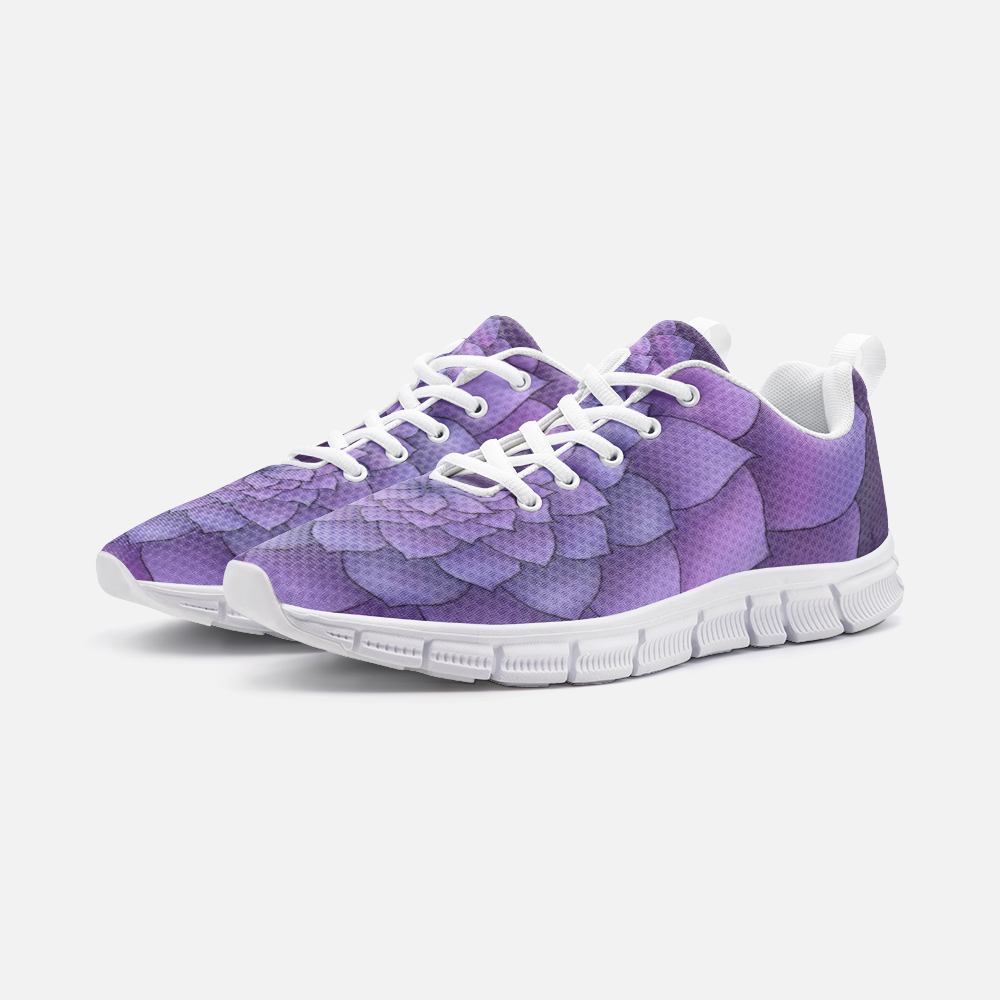 Lilac Succulent Athletic Sneakers