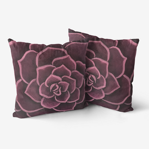 Crimson Succulent Throw Pillow
