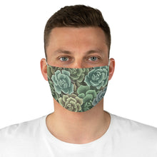 Load image into Gallery viewer, Green Succulents Face Mask