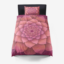 Load image into Gallery viewer, Magenta Succulent Duvet Cover Set