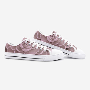 Blush Succulent Low Top Canvas Shoes