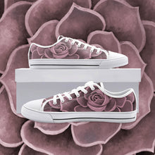 Load image into Gallery viewer, Blush Succulent Low Top Canvas Shoes