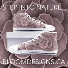 Load image into Gallery viewer, Blush Succulent High Top Canvas Shoes