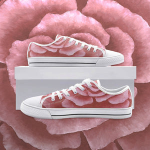 Coral Rose Low Top Canvas Shoes