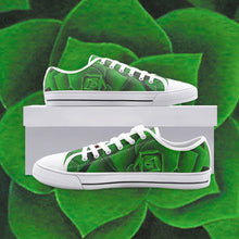 Load image into Gallery viewer, Emerald Succulent Low Top Canvas Shoes