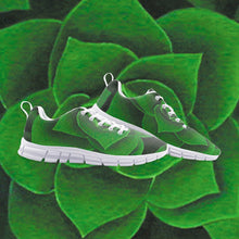 Load image into Gallery viewer, Emerald Succulent Athletic Sneakers