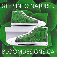 Load image into Gallery viewer, Emerald Succulent High Top Canvas Shoes
