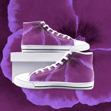 Load image into Gallery viewer, Fuchsia Hibiscus High Top Canvas Shoes
