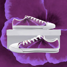 Load image into Gallery viewer, Fuchsia Hibiscus Low Top Canvas Shoes