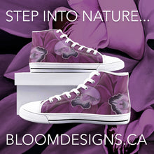 Load image into Gallery viewer, Fuchsia Orchid High Top Canvas Shoes