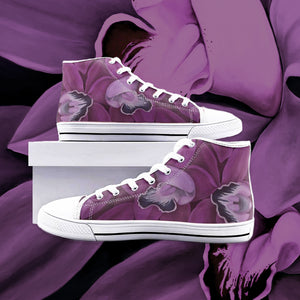 Fuchsia Orchid High Top Canvas Shoes
