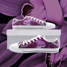 Load image into Gallery viewer, Fuchsia Orchid Low Top Canvas Shoes