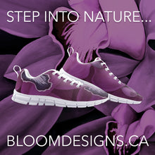 Load image into Gallery viewer, Fuchsia Orchid Unisex Athletic Sneakers