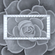 Load image into Gallery viewer, Light Grey Succulent Crib Sheets