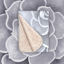 Load image into Gallery viewer, Light Grey Succulent Infant Sherpa Blanket