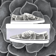 Load image into Gallery viewer, Grey Succulent Loafer Sneakers