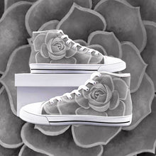 Load image into Gallery viewer, Grey High Top Canvas Shoes