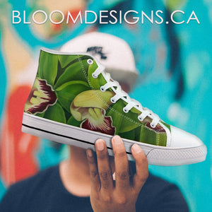 Lime Orchid High Top Canvas Shoes