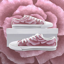 Load image into Gallery viewer, Pink Rose Low Top Canvas Shoes