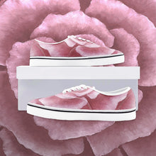Load image into Gallery viewer, Pink Rose Canvas Loafer Sneakers