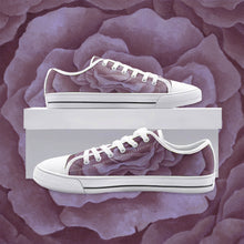 Load image into Gallery viewer, Plum Rose Low Top Canvas Shoes