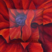 Load image into Gallery viewer, Red Poppy Throw Pillow