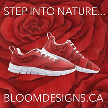 Load image into Gallery viewer, Red Rose Athletic Sneakers