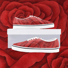 Load image into Gallery viewer, Red Rose Loafer Sneakers