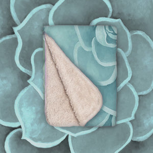 Seafoam infant sherpa blanket