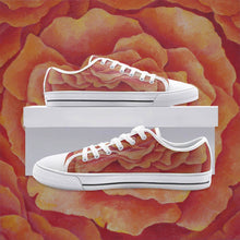 Load image into Gallery viewer, Tangerine Rose Low Top Canvas Shoes