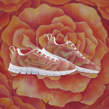 Load image into Gallery viewer, Tangerine Rose Athletic Sneakers