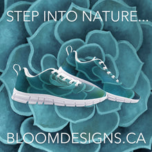 Load image into Gallery viewer, Teal Succulent Athletic Sneakers