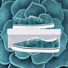 Load image into Gallery viewer, Teal Succulent Loafer Sneakers