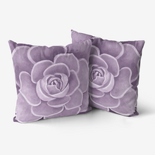 Load image into Gallery viewer, Lilac Succulent Throw Pillow